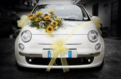 Wedding car that's amore Stock Photography