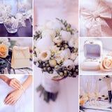 Wedding collage art decorative elements Stock Photography
