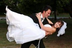 Wedding Couple Fun Stock Images