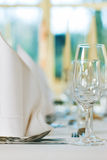 Wedding - feastfully decorated table Stock Image