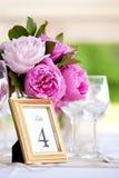 Wedding Flower Arrangement Table Setting Series Royalty Free Stock Photo