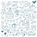 Wedding Doodles Royalty Free Stock Photo