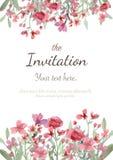 Wedding invitation card Royalty Free Stock Image