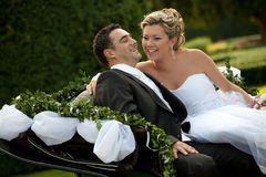 Wedding series, carriage Stock Photography