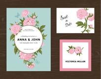 Wedding set. Menu, save the date, guest card. Stock Photos