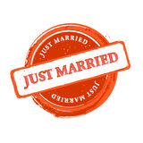 Wedding stamp Royalty Free Stock Photography
