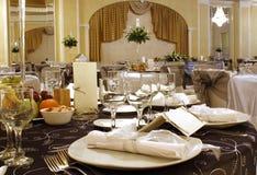 Wedding table arrangement Royalty Free Stock Photo