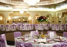 Wedding table arrangement Stock Photos