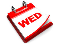 Wednesday calendar Royalty Free Stock Images