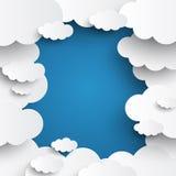 Weiße Wolken auf Hintergrund des blauen Himmels Lizenzfreie Stockfotos