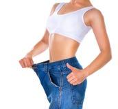 Weight Loss Woman Royalty Free Stock Photos