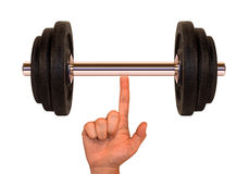 Weight (Super Finger) Stock Images