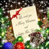 Weihnachtsdesign mit Lebkuchenplätzchen Stockfotografie