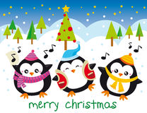 WeihnachtsPinguine Stockfotos