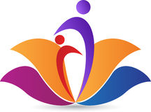 Lotosowy logo Zdjęcia Stock