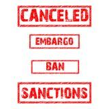 Wektorowy ustawiający prohibicje Obrazy Royalty Free