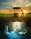 Well and water Stock Photography