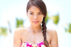 Wellness beauty woman - relaxing spa serene model Stock Photo