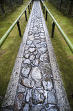 Wet footpath in Koto-in Royalty Free Stock Photos