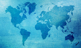 Wet world map Royalty Free Stock Images