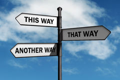 Which way to go? Royalty Free Stock Photos