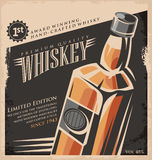 Whiskey vintage poster design Royalty Free Stock Photography