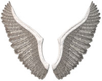 White Angel Wings Illustration Isolated Royalty Free Stock Photos