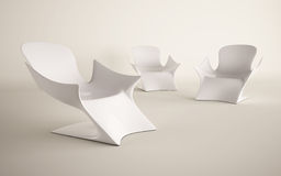 White chair design for decorated Royalty Free Stock Images