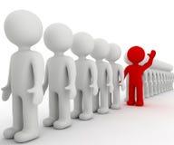 Red volunteer Stock Image