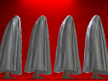 White clothed figures Royalty Free Stock Images