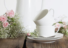 White Coffee Cups Stock Photo