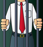 White Collar Criminal Stock Photo