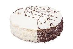 White Cream Icing Cake Stock Images