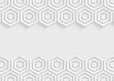 White hexagon paper abstract background for website, banner, business card, invitation, postcard Stock Images