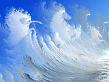 White horses in the surf Stock Images