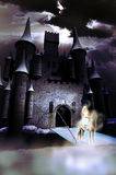 White lady of the castle Royalty Free Stock Images