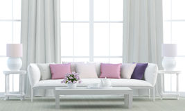 White living room Stock Images