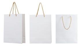 White paper bag Royalty Free Stock Photos