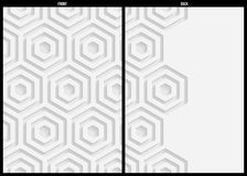 White paper pattern, abstract background template for website, banner, business card, invitation, postcard Royalty Free Stock Photo