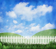 White picket fence Royalty Free Stock Photo
