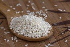 White rice spoon Stock Photo