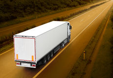 White truck. Royalty Free Stock Images