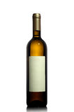 White wine bottle with empty label Stock Image