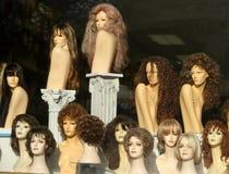Wig Shop Window Display Stock Images