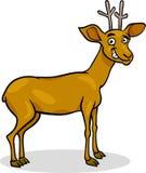Wild deer cartoon illustration Stock Photo