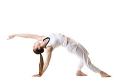 Wild Thing yoga pose Royalty Free Stock Images