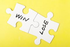 Win and lose words Stock Image