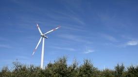 Sardinia.Wind turbine stock video footage