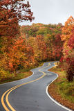 Winding Road in the Fall Royalty Free Stock Image