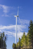 Windmill electric power generator Royalty Free Stock Image